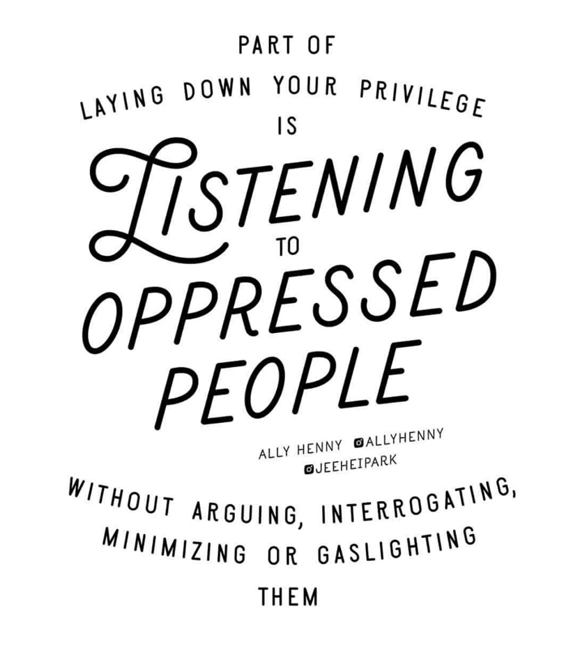Listening to oppressed people